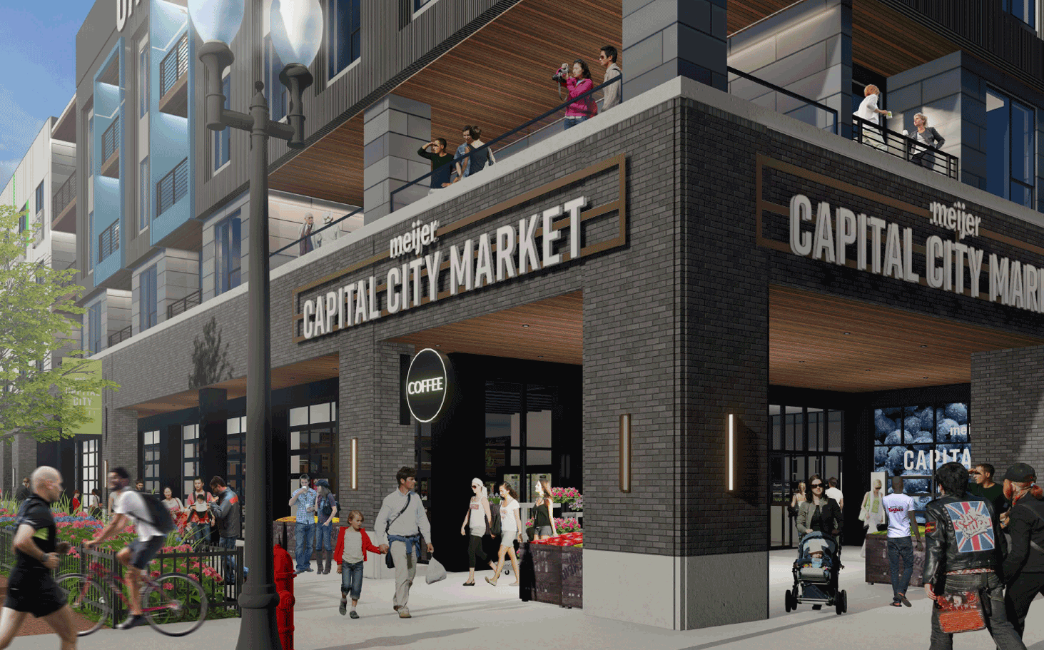 Capital City Market Rendering View up Close